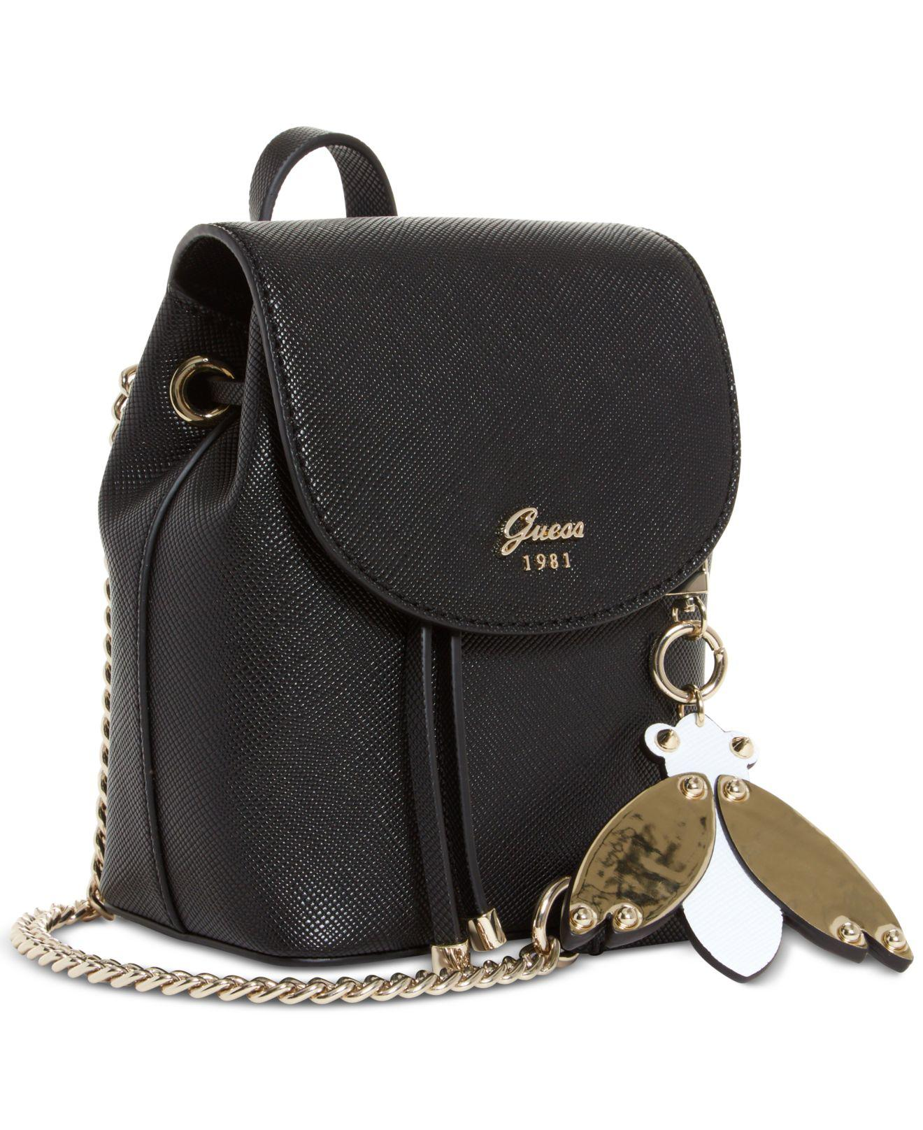 8204185d0a Lyst - Guess Varsity Pop Mini Pin Up Convertible Backpack in Black