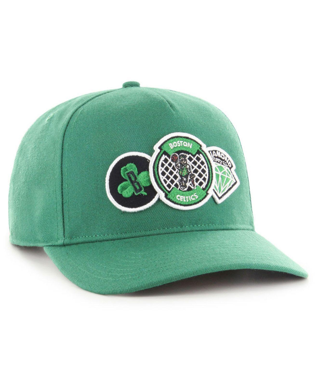 6525067caea079 Lyst - 47 Brand Boston Celtics Diamond Patch Captain Dt Cap in Green for Men