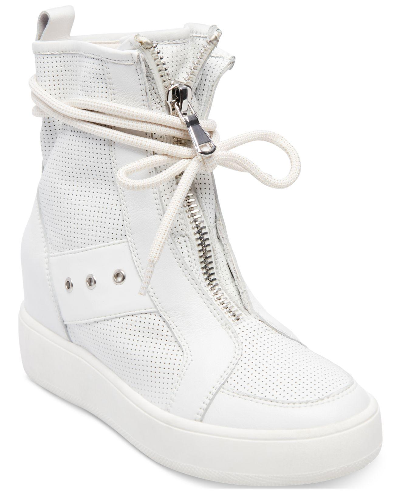 5804efa4e21 Steve Madden Anton High-top Sneakers in White - Lyst