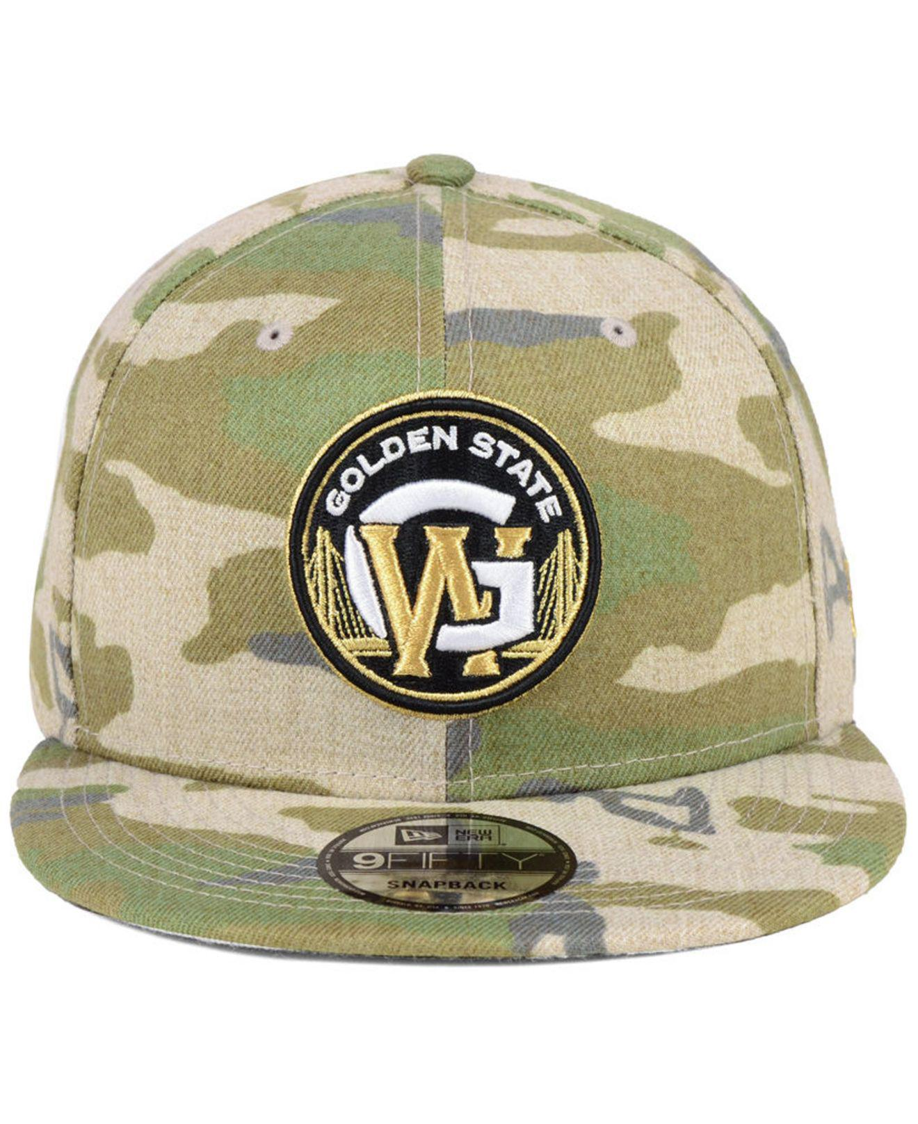 reputable site d6740 b2645 top quality lyst ktz golden state warriors combo camo 9fifty snapback cap  in green for men