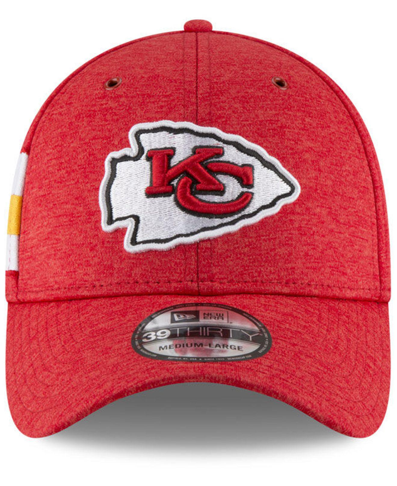 087a5796b0f Lyst - Ktz Kansas City Chiefs On Field Sideline Home 39thirty Cap in Red  for Men