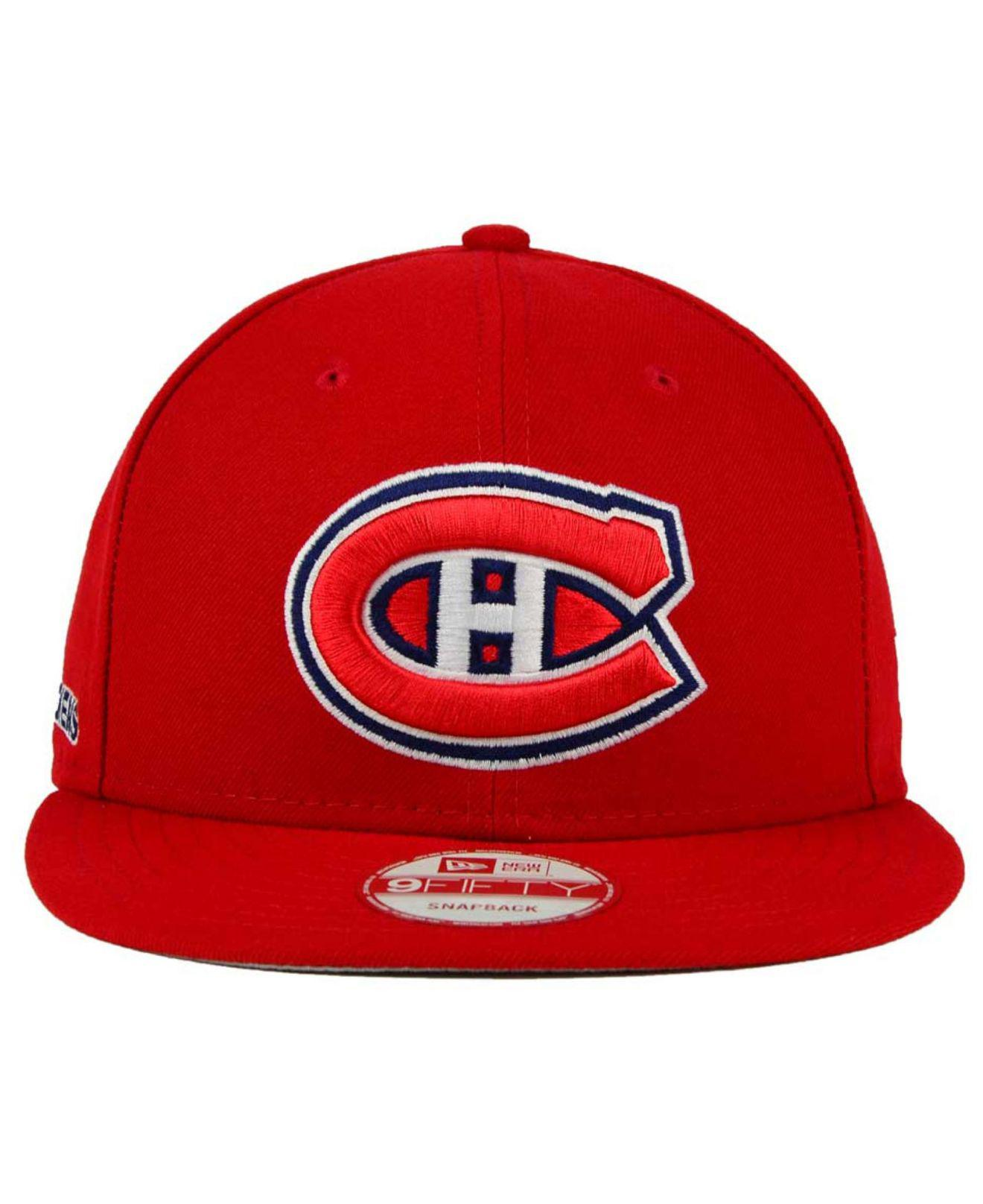 promo code 154af c7119 sweden lyst ktz montreal canadiens all day 9fifty snapback cap in red for  men 4f1c7 5ad67
