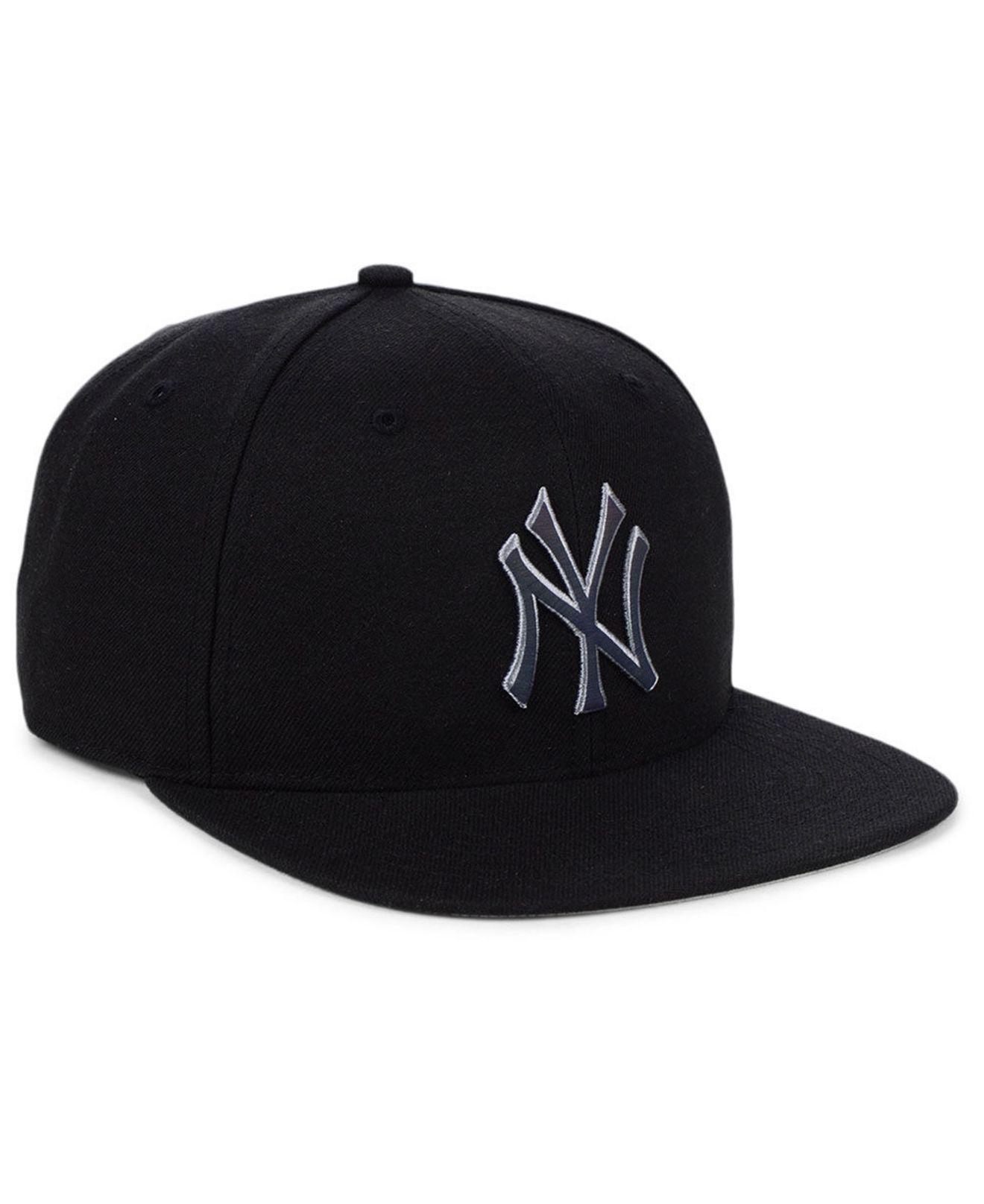 innovative design 3a902 4c2d5 47 Brand New York Yankees Iridescent Snapback Cap in Black for Men - Lyst
