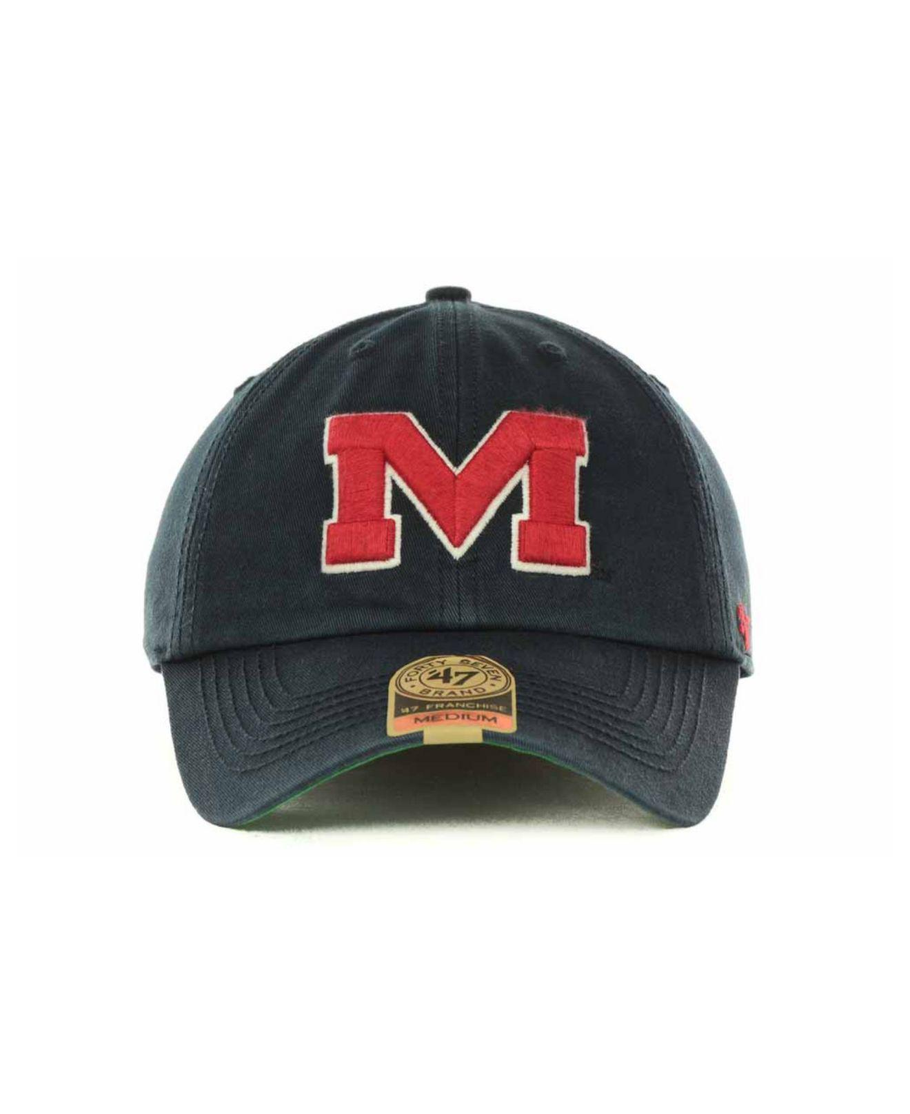 watch 81b89 12588 coupon 47 brand ncaa 47 franchise cap hats ole miss hat 576ab c344b  real  lyst 47 brand mississippi rebels franchise cap in blue for men fa3a6 fc25c