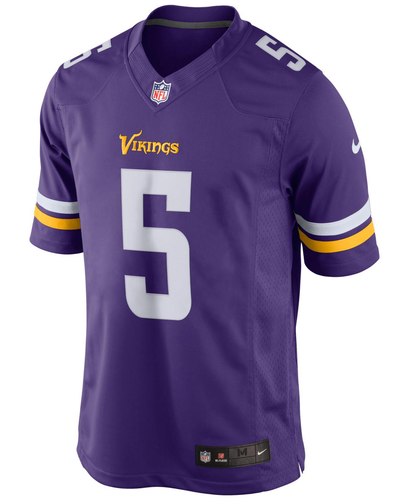 b25ba0d20 Lyst - Nike Men s Teddy Bridgewater Minnesota Vikings Limited Jersey in  Purple for Men
