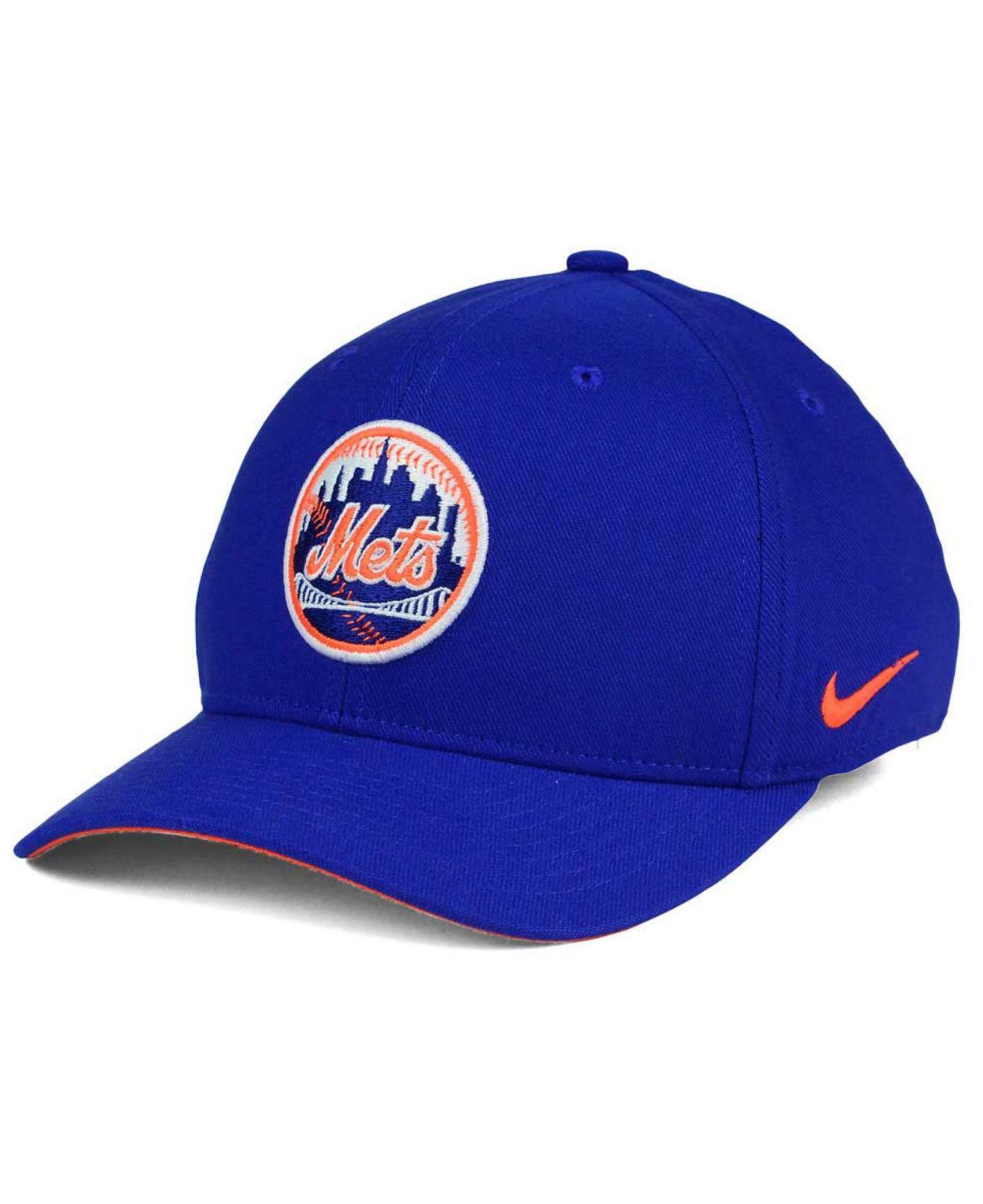 huge discount 2732f 796b7 Nike. Men s Blue New York Mets Ligature Swoosh Flex Cap