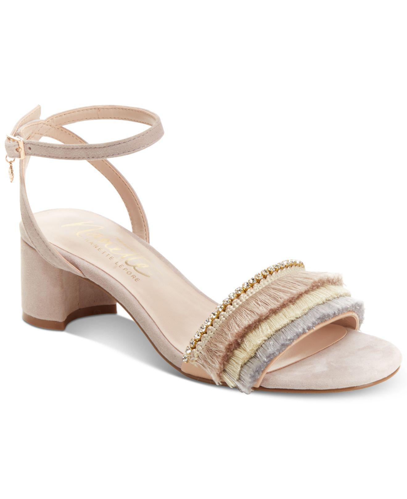 Nanette Lepore Darla Fringed Dress Sandals Women's Shoes SCHvUmkh