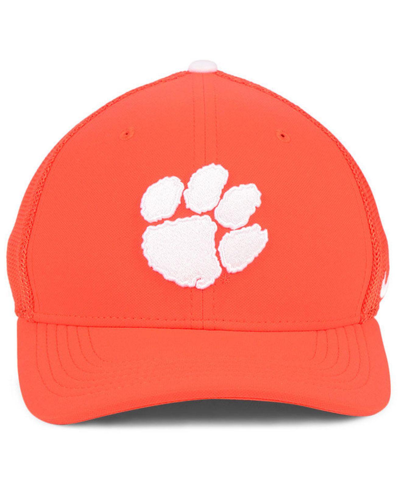 innovative design 53768 892b9 Lyst - Nike Clemson Tigers Col Aro Swooshflex Cap in Orange for Men