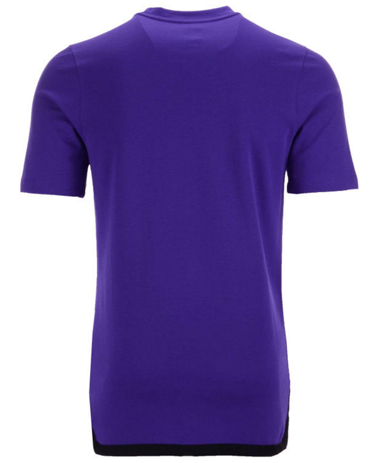a721b48fb Lyst - Nike Los Angeles Lakers City Edition Shooting T-shirt in Purple for  Men
