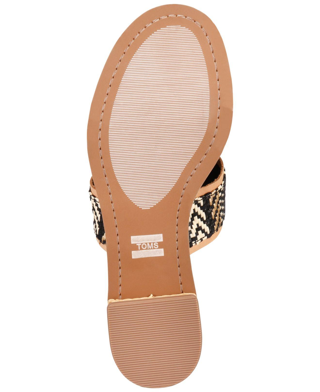 b8ff3024fed TOMS - Black Mariposa Slip-on City Sandals - Lyst. View fullscreen