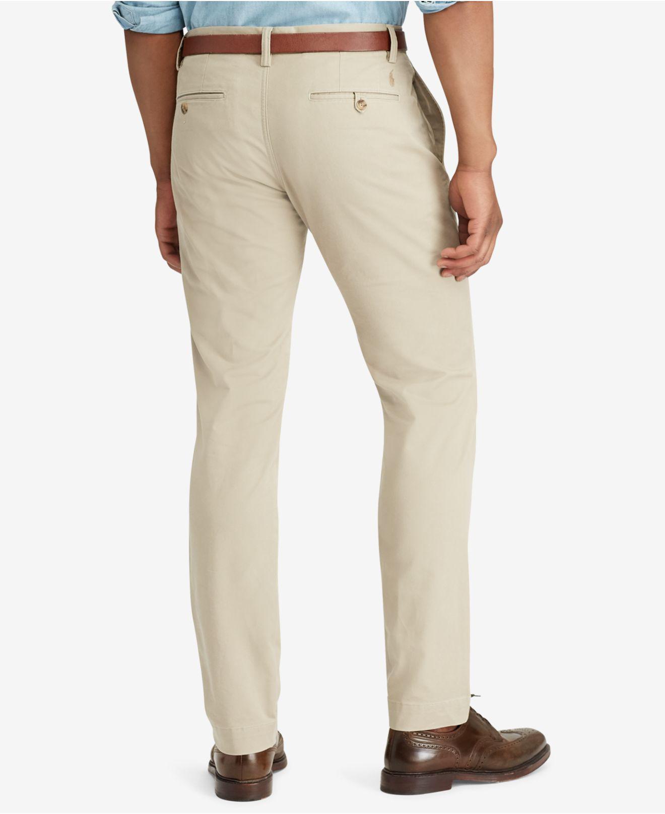 dc20eebb6f88 Lyst - Polo Ralph Lauren Men s Hampton Straight-fit 5-pocket Pants in  Natural for Men - Save 66%