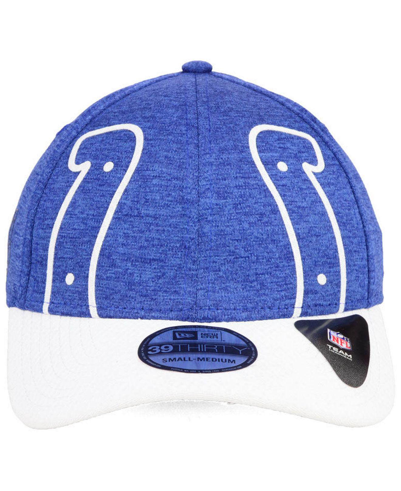 6560c1465c4 Lyst - KTZ Indianapolis Colts Oversized Laser Cut Logo 39thirty Cap in Blue  for Men