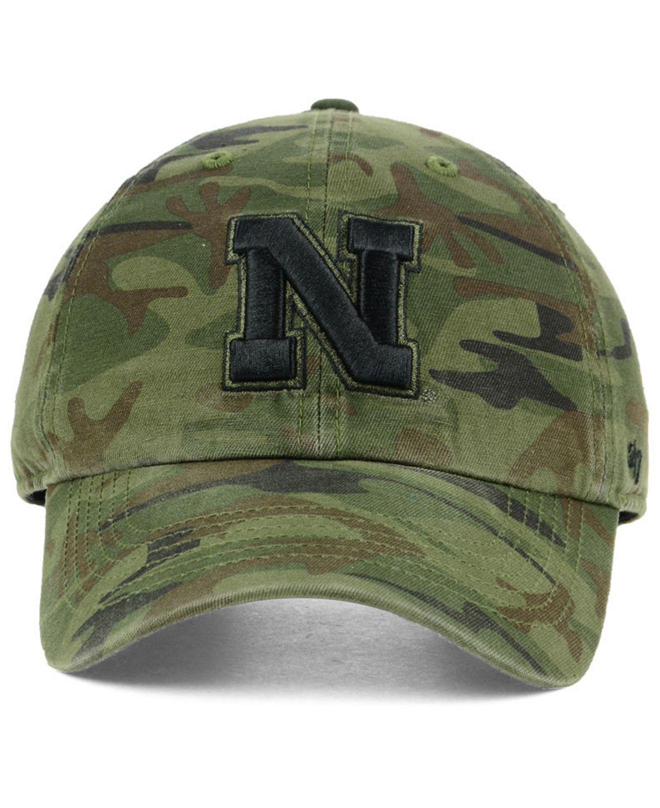 98ee6423303 ... best price lyst 47 brand nebraska cornhuskers regiment clean up  strapback cap in green for men