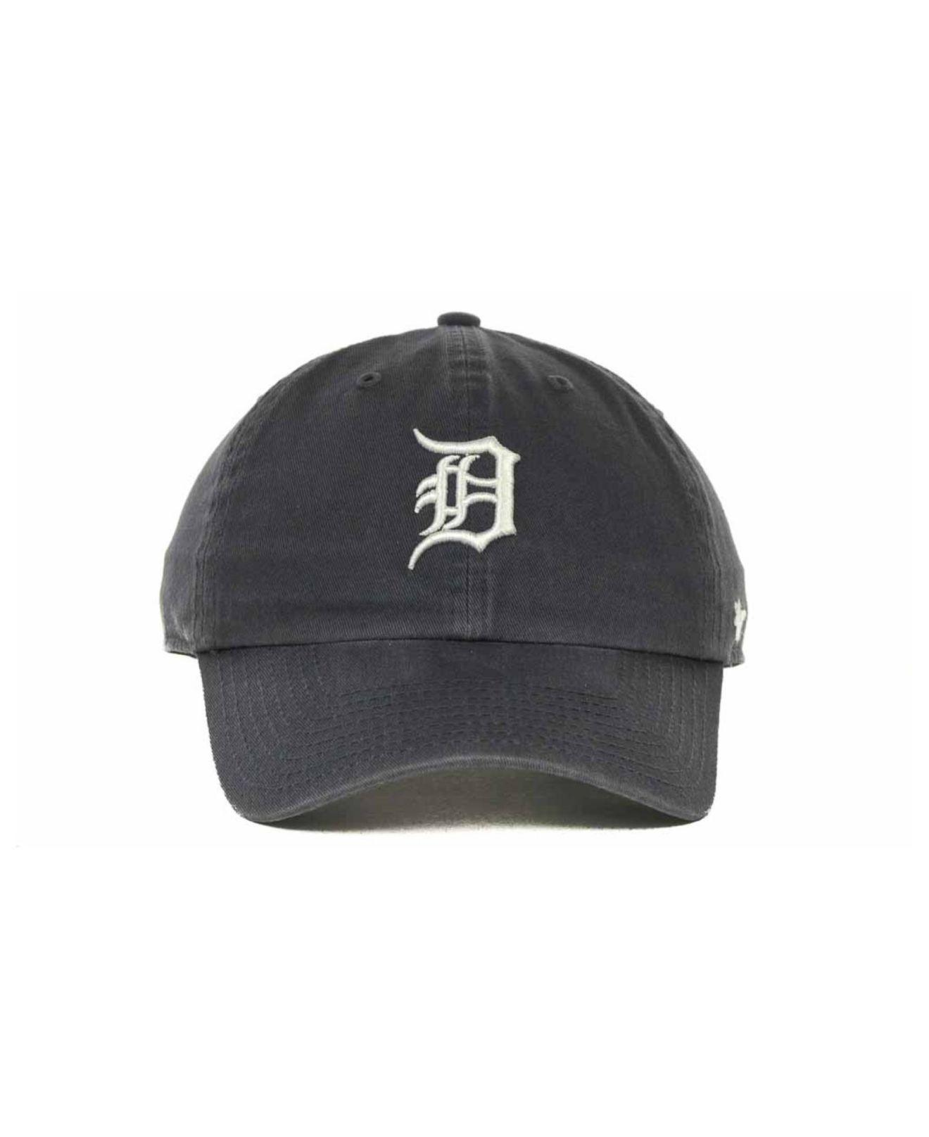 online store f366a b105d ... promo code for lyst 47 brand detroit tigers clean up hat in blue for  men 8f540