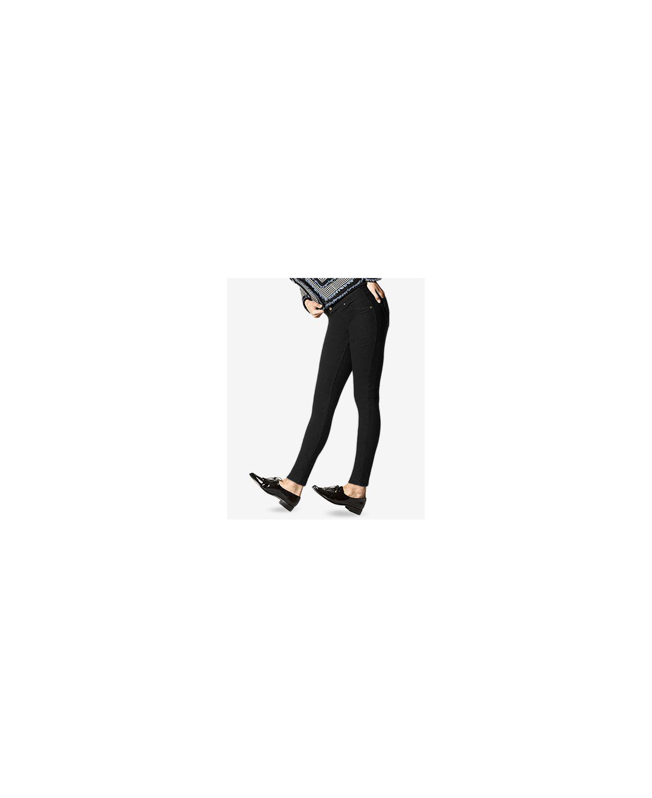 10f801c4a7cd7d Lyst - Hue ® Fleece-lined Denim Leggings in Black
