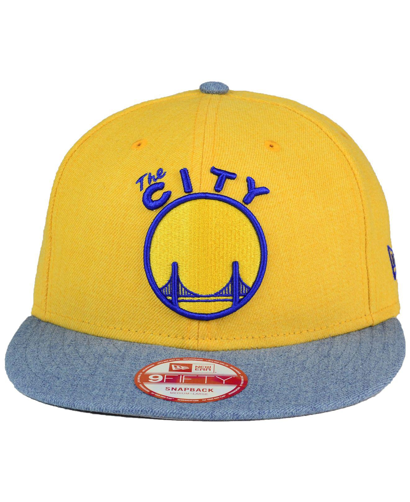 hot sale online 061ba d9032 ... greece lyst ktz golden state warriors heather action 9fifty snapback cap  in yellow for men 143bd