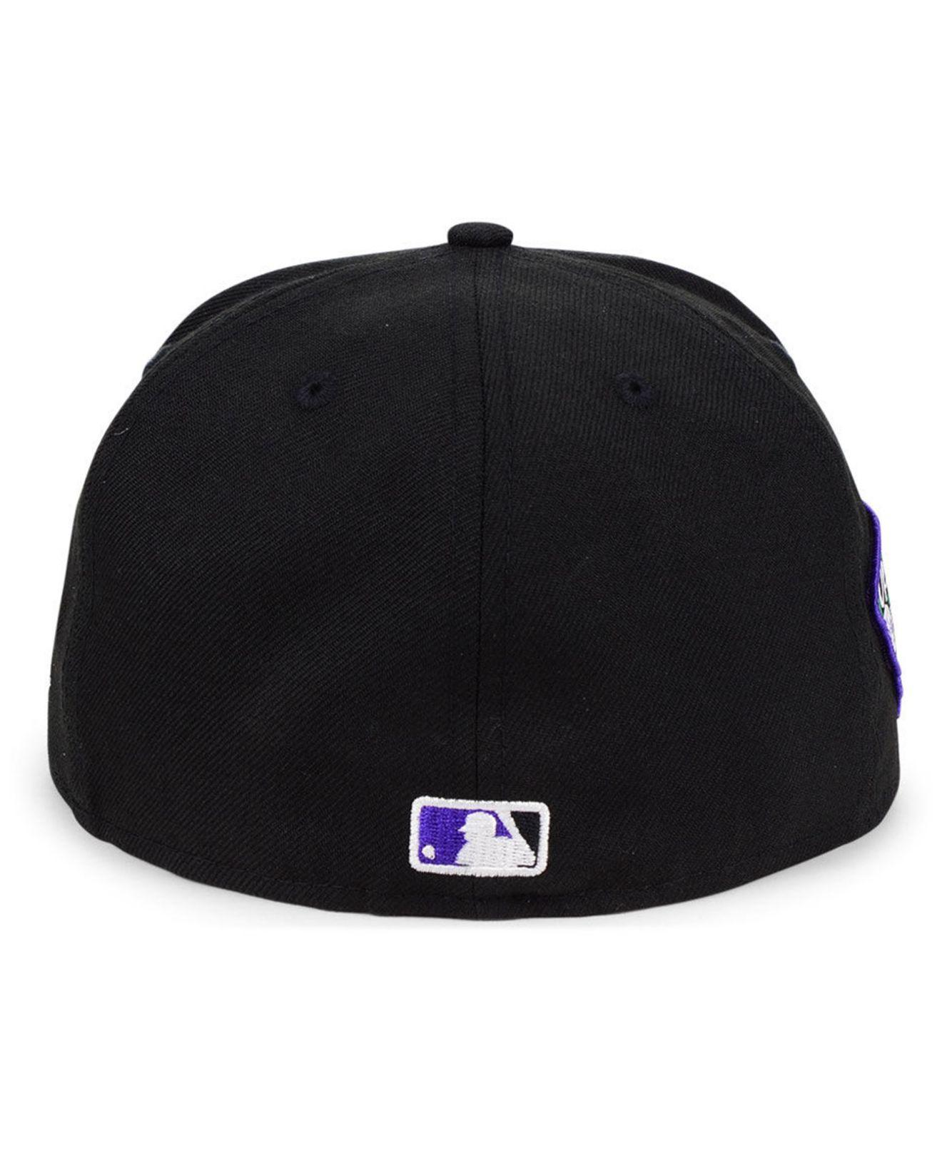 best sneakers b6087 0f80b KTZ Colorado Rockies Opening Day 59fifty-fitted-fitted Cap in Black ...