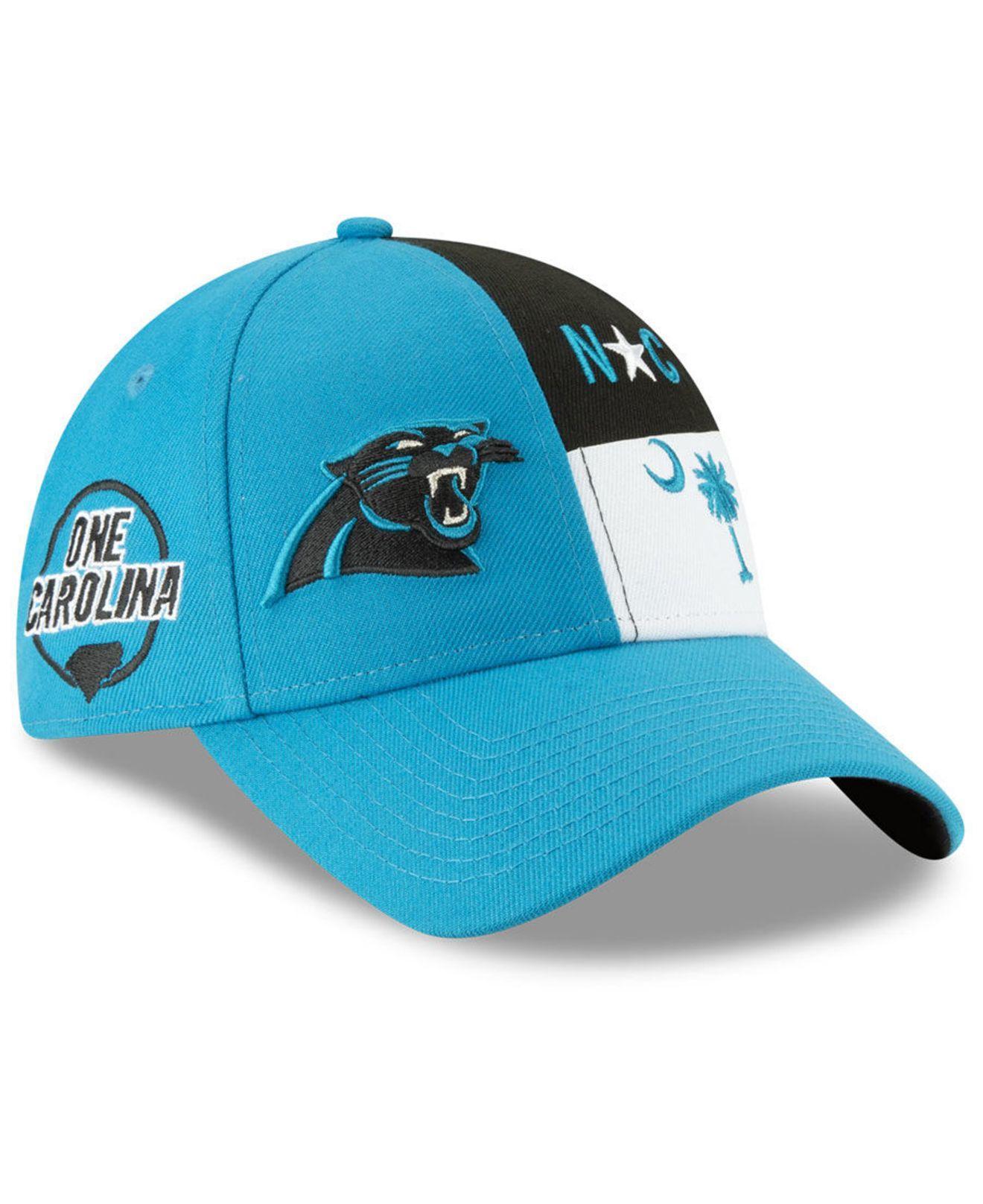 timeless design 75b64 89fa2 KTZ. Women s Blue Carolina Panthers Draft 9twenty Strapback Cap