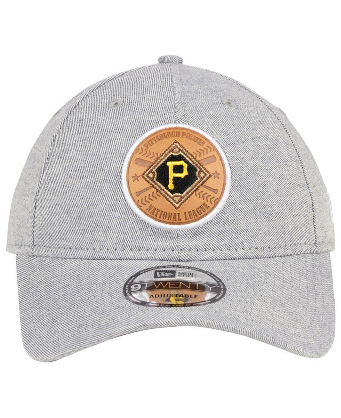 0c01fd2a4145f9 ... shop lyst ktz pittsburgh pirates round tripper 9twenty cap for men  30df4 fdf1d