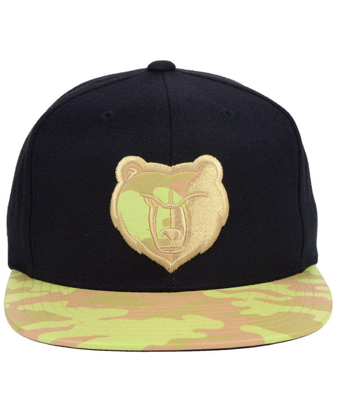 size 40 9998d d166c ... hot lyst mitchell ness memphis grizzlies natural camo snapback cap in  black for men 0b98e dd582