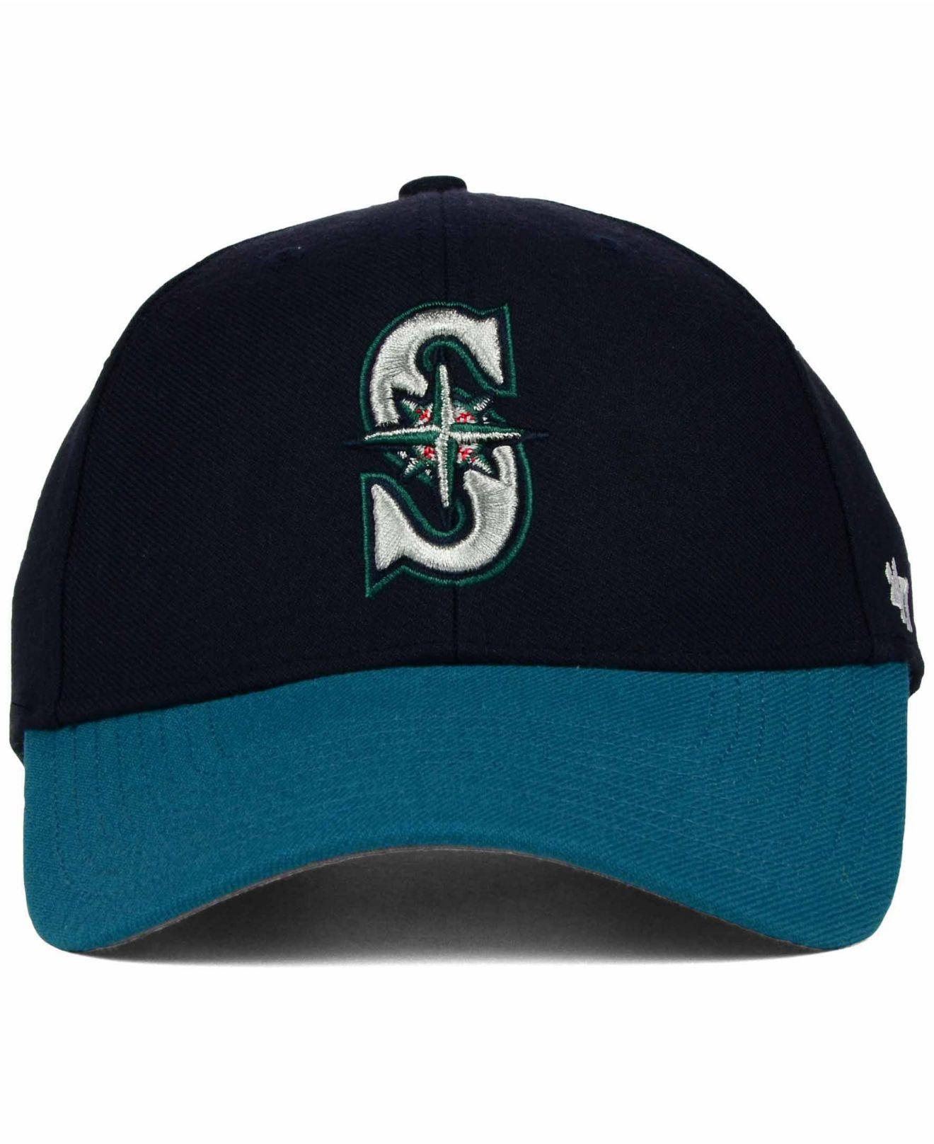 promo code 569b4 d2c15 Lyst - 47 Brand Seattle Mariners Mvp Curved Cap in Blue for Men