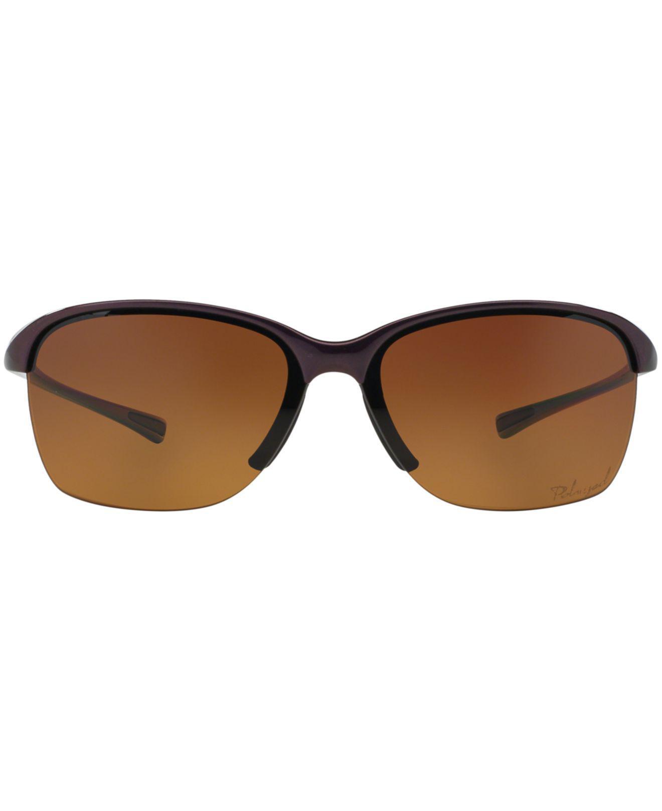 c1dfc51179bbf discount oakley womens unstoppable polarized sunglasses 9097a 41998   switzerland lyst oakley womens sunglasses oo9191 unstoppable in purple  4e733 a5683