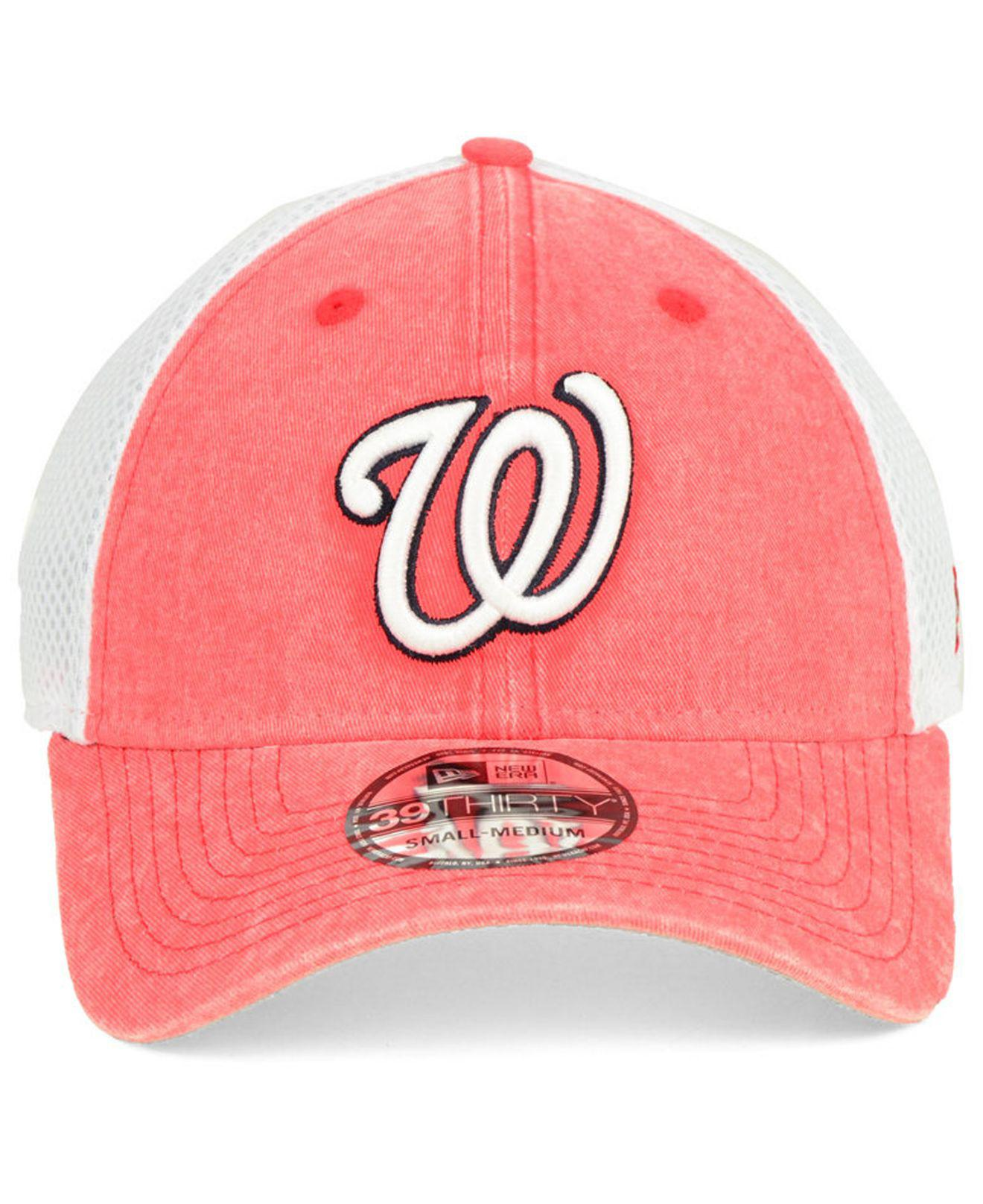 sale retailer 3c048 124d1 get los angeles angels new era mlb stache 59fifty cap e74ef 42ff5  get lyst  ktz washington nationals hooge neo 39thirty cap in red for men e6eab e4556