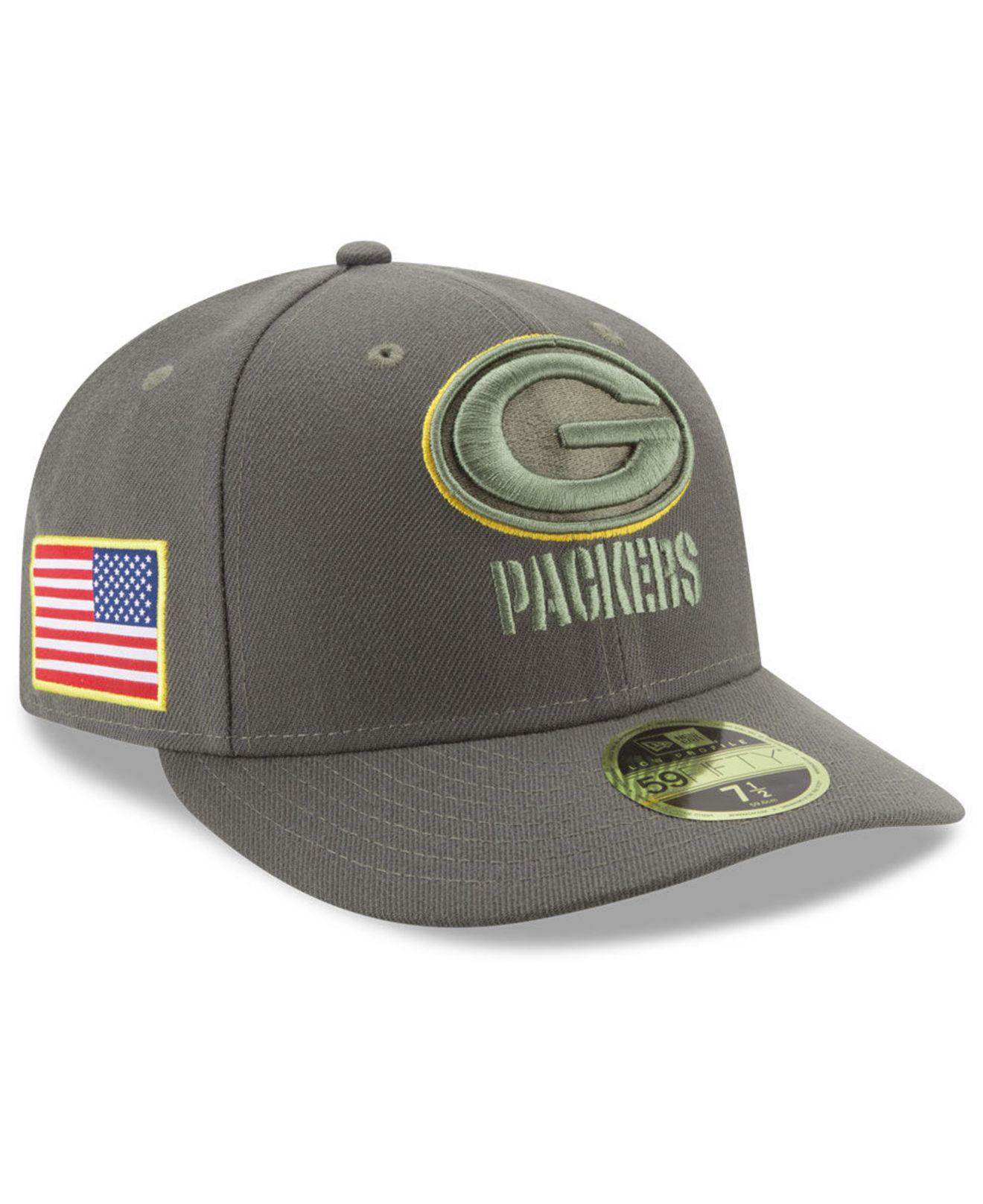 Lyst - Ktz Green Bay Packers Salute To Service Low Profile 59fifty ... 9b4dcc63b
