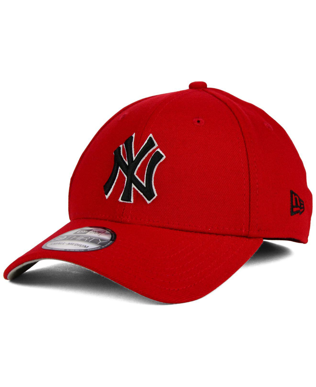 748992d78c8 ... coupon ktz. mens red new york yankees core classic 39thirty cap ede4b  704e3