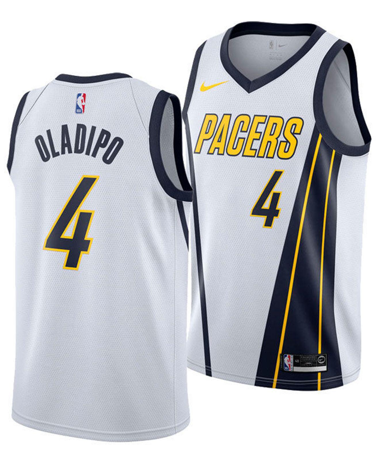 0b2b29477 Nike. Men s White Victor Oladipo Earned City Edition Swingman (indiana  Pacers) Nba Connected Jersey