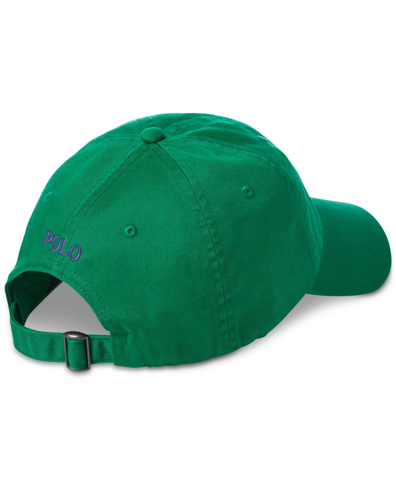 Lyst - Polo Ralph Lauren Cotton Chino Baseball Cap in Green for Men - Save  51.282051282051285% 598edc8ac29d