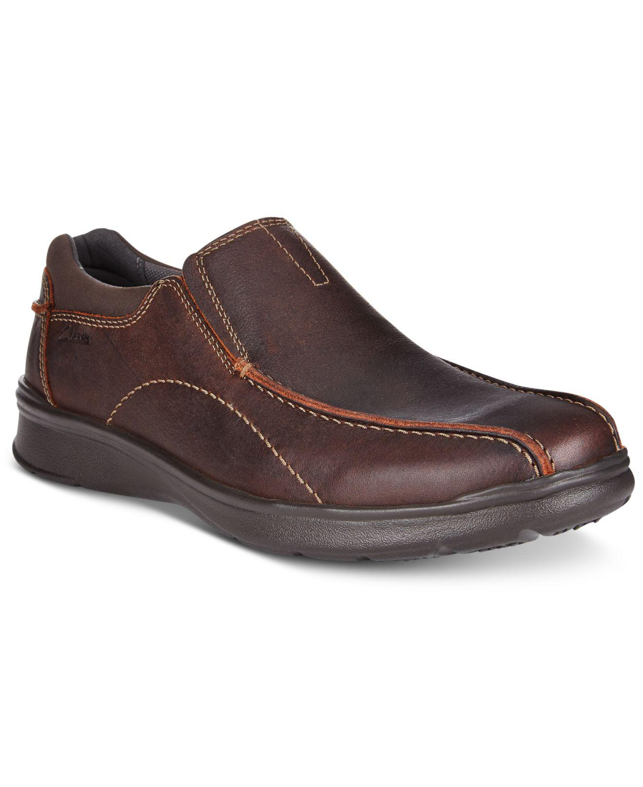 Watch - Clarks Mens Brown Leather Slip On Casual Shoe-52220 video