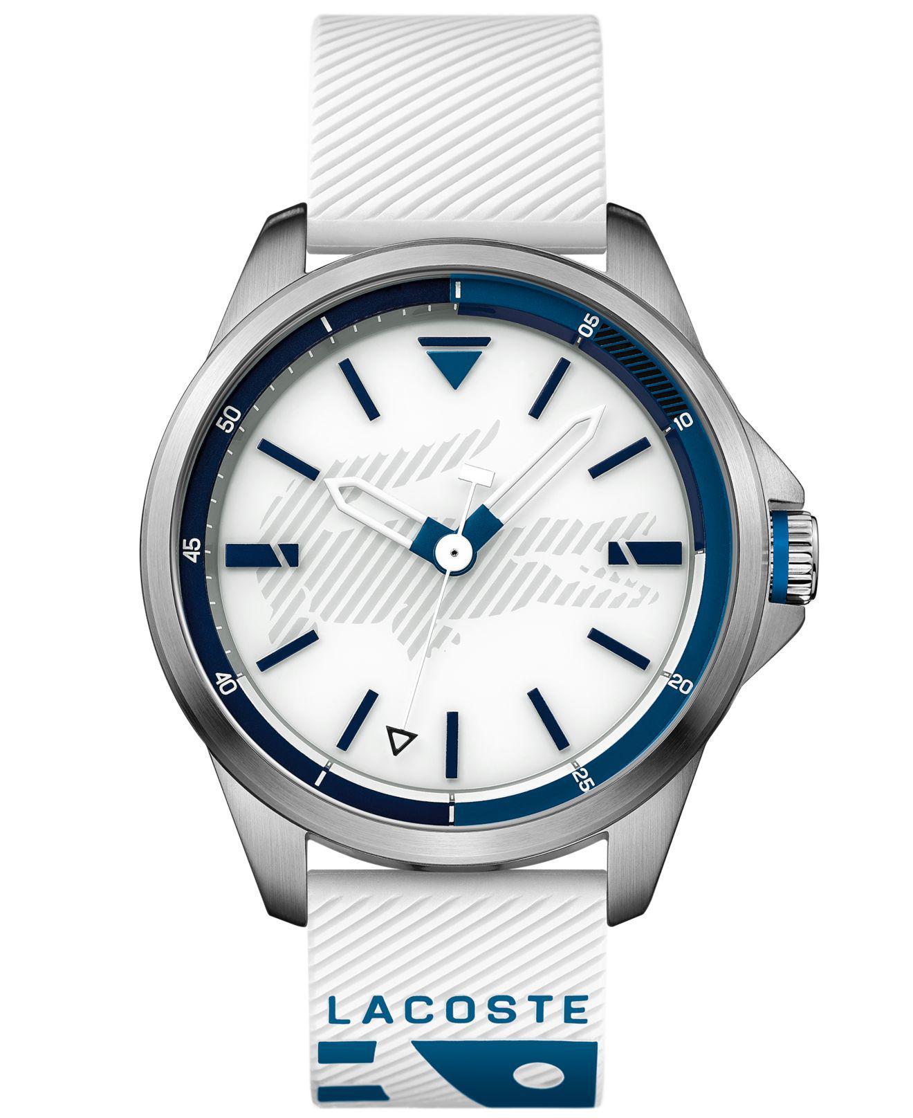 Lacoste - Capbreton White Silicone Strap Watch 46mm for Men - Lyst. View fullscreen