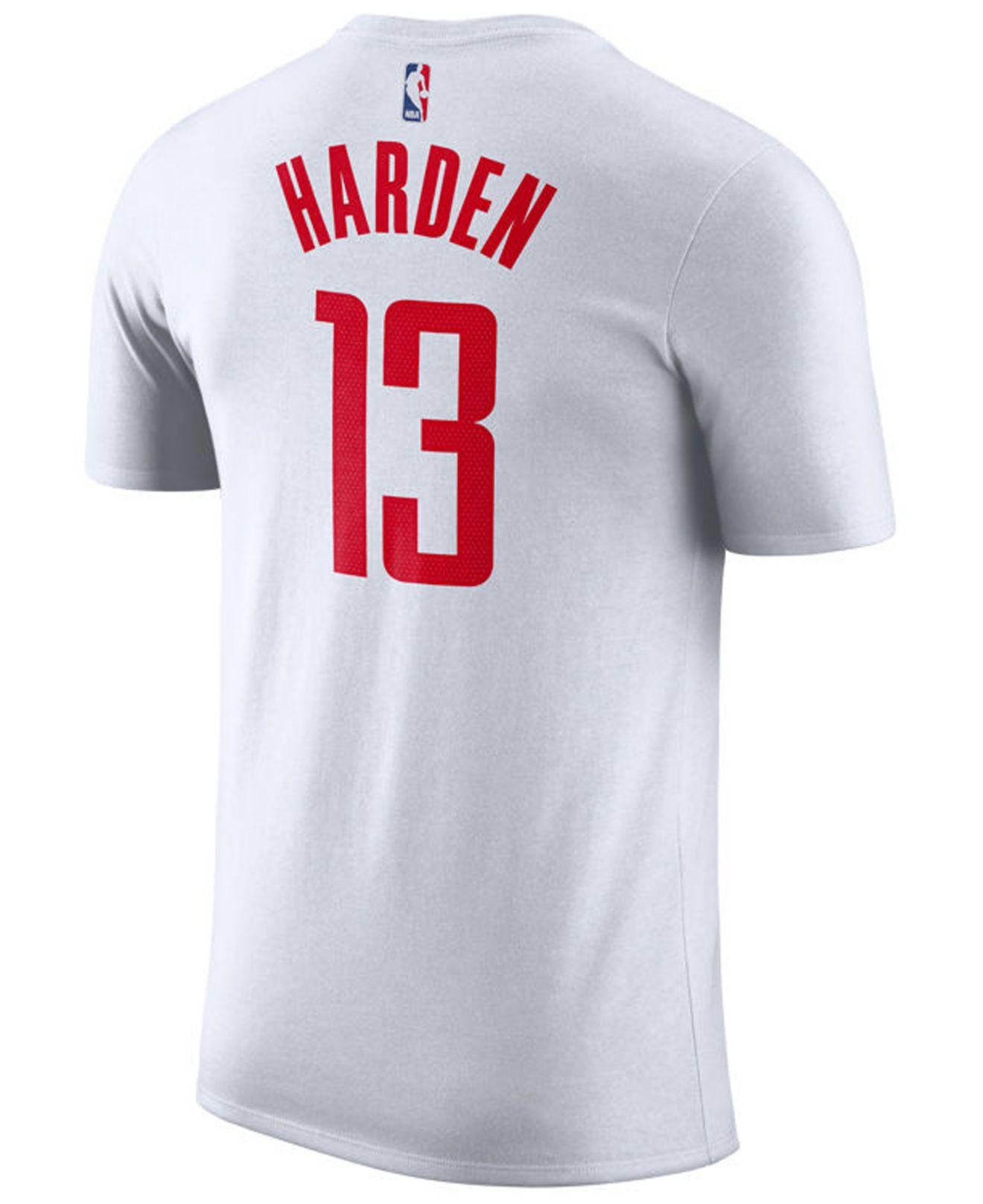 Nike. Men s White James Harden Houston Rockets Association Player T-shirt 9b6984f94