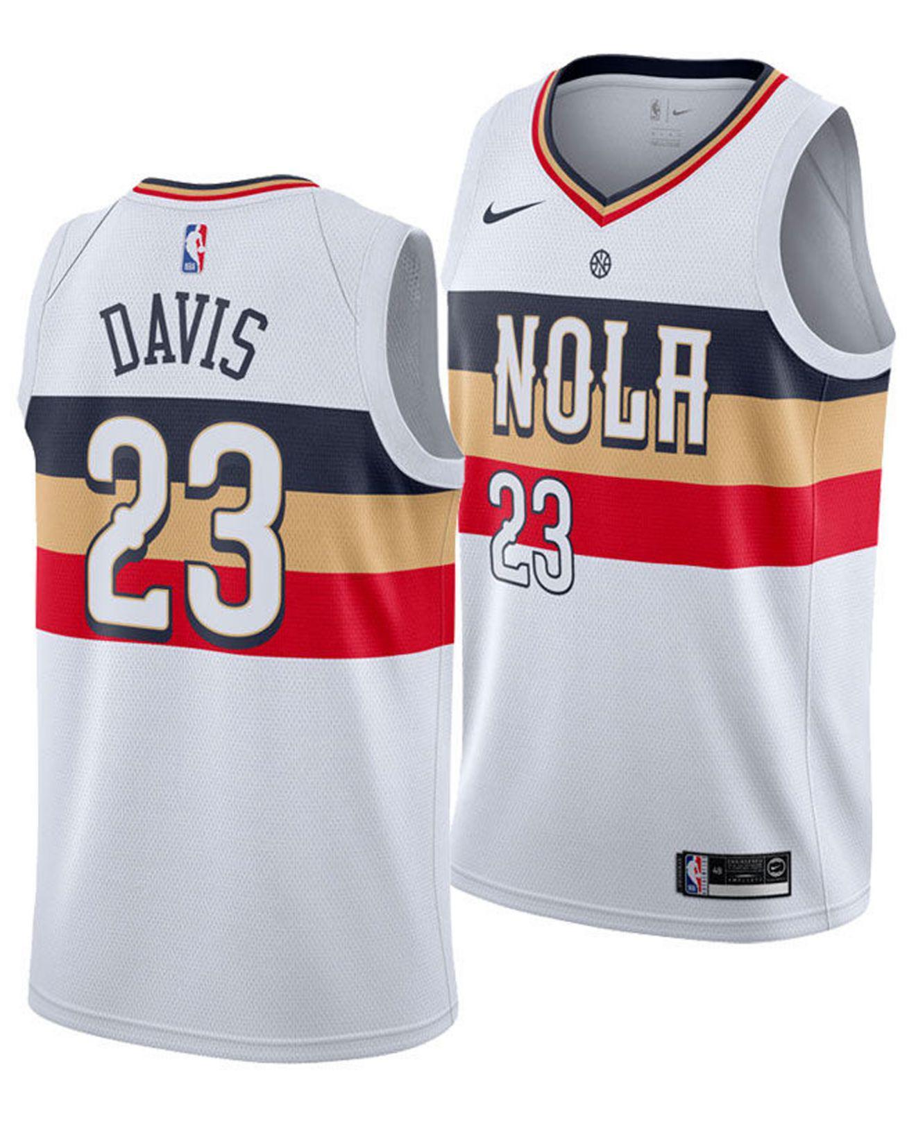 Nike. Men s White Anthony Davis New Orleans Pelicans Earned Edition Swingman  Jersey 6285f53ac