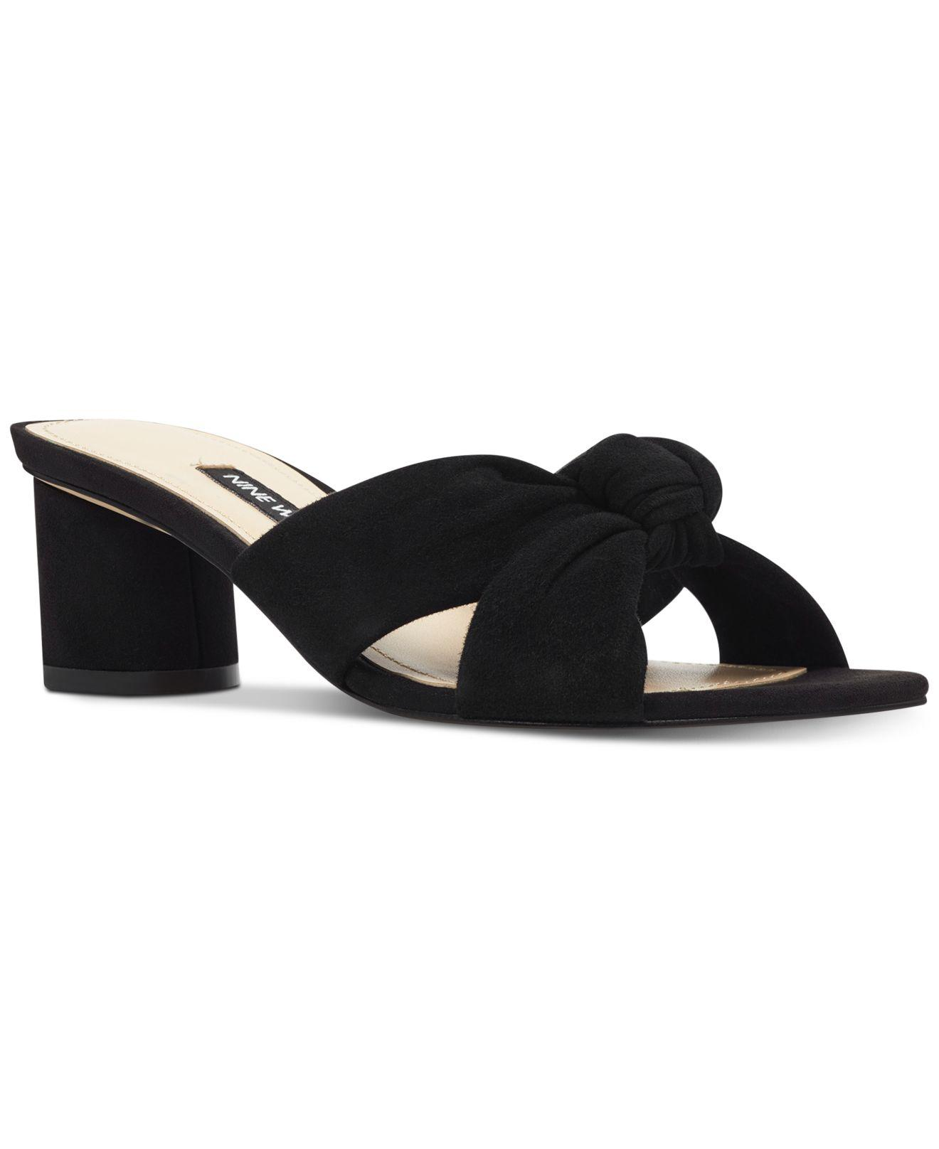 1b661f412 Lyst - Nine West Kayla Knotted Dress Sandals in Black