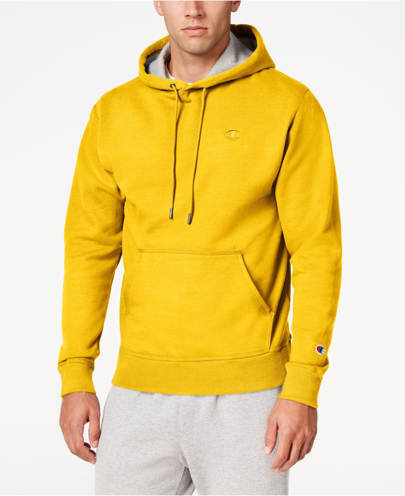 3ef2dd6fa9eb Lyst - Champion Men s Powerblend Fleece Hoodie in Yellow for Men