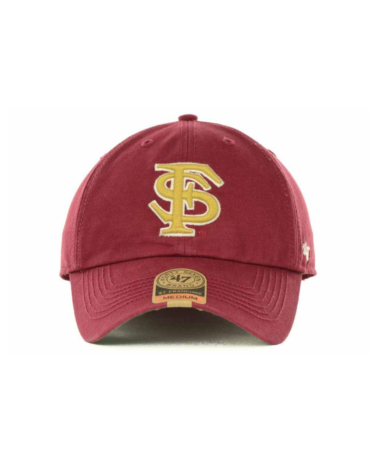 the latest 58495 1f1ad ... switzerland lyst 47 brand florida state seminoles franchise cap in red  for men f60e8 0b70b
