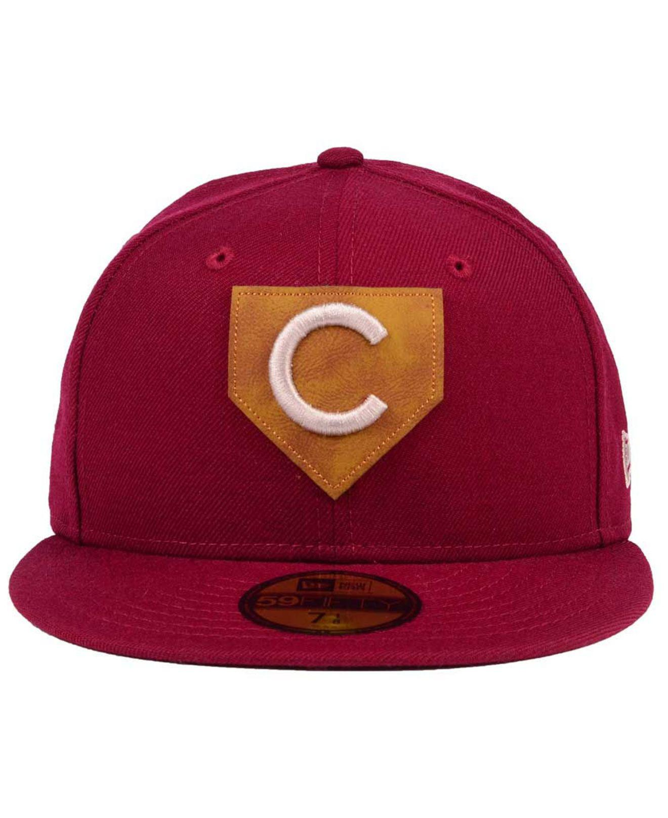 585ebb6b463 Lyst - KTZ Chicago Cubs The Logo Of Leather 59fifty Fitted Cap in Red for  Men