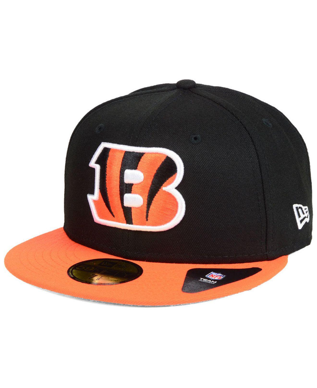 brand new 705cf 7239a KTZ. Men s Black Cincinnati Bengals Team Basic 59fifty Fitted Cap