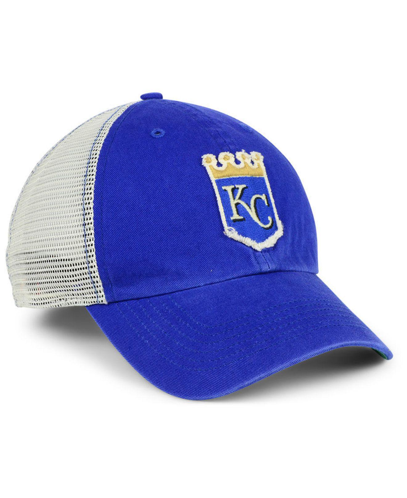 new style 5b133 ea773 switzerland unboxing new york mets 47 brand clean up cap dee53 c75e2  czech  47 brand blue kansas city royals tally closer stretch fitted cap for men  lyst.