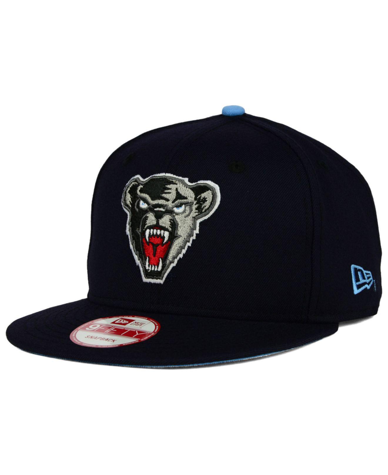 80b70a817cb Lyst - KTZ Maine Black Bears Core 9fifty Snapback Cap in Blue for Men