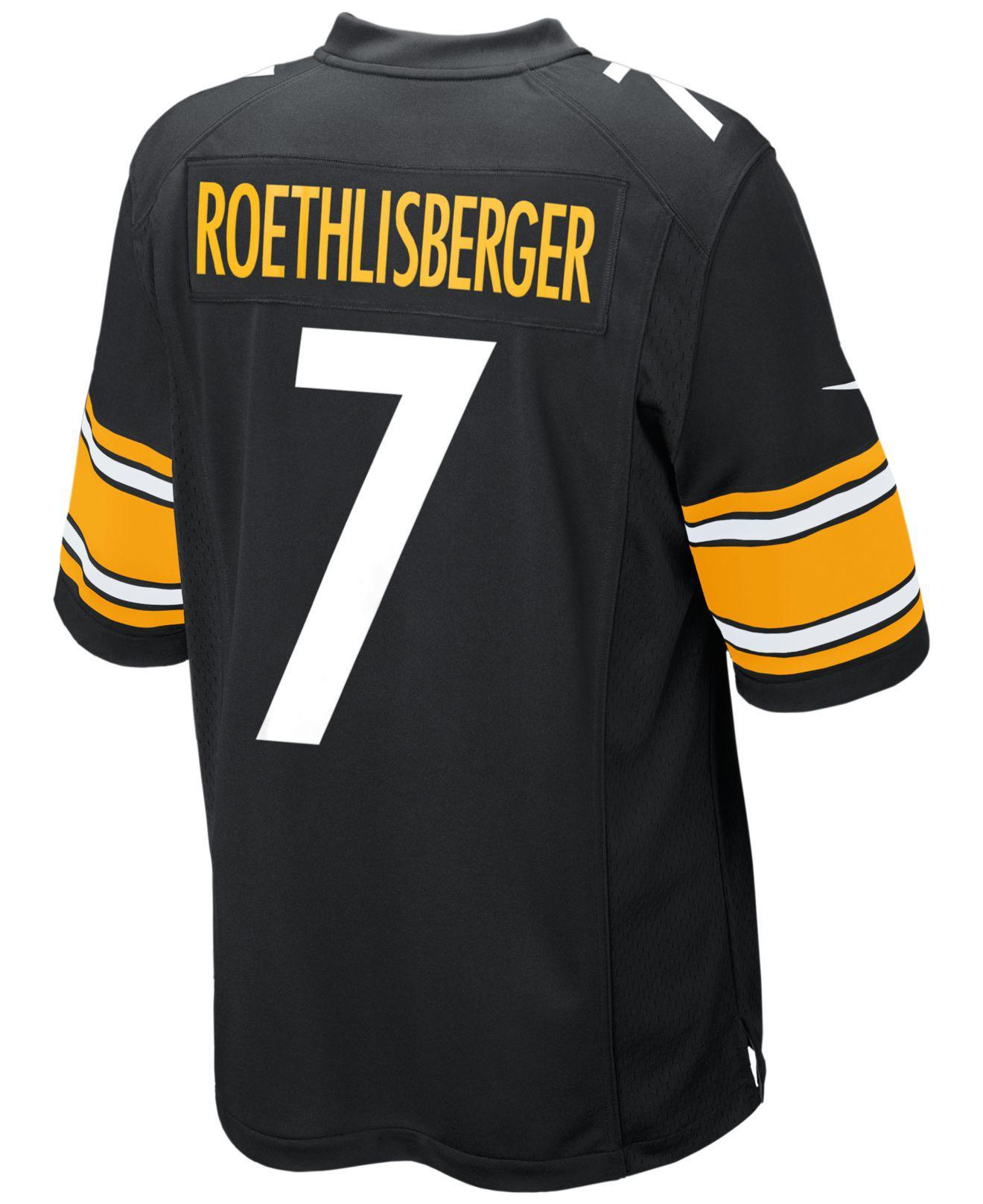 025b0d2f4 Lyst - Nike Men s Ben Roethlisberger Pittsburgh Steelers Game Jersey ...