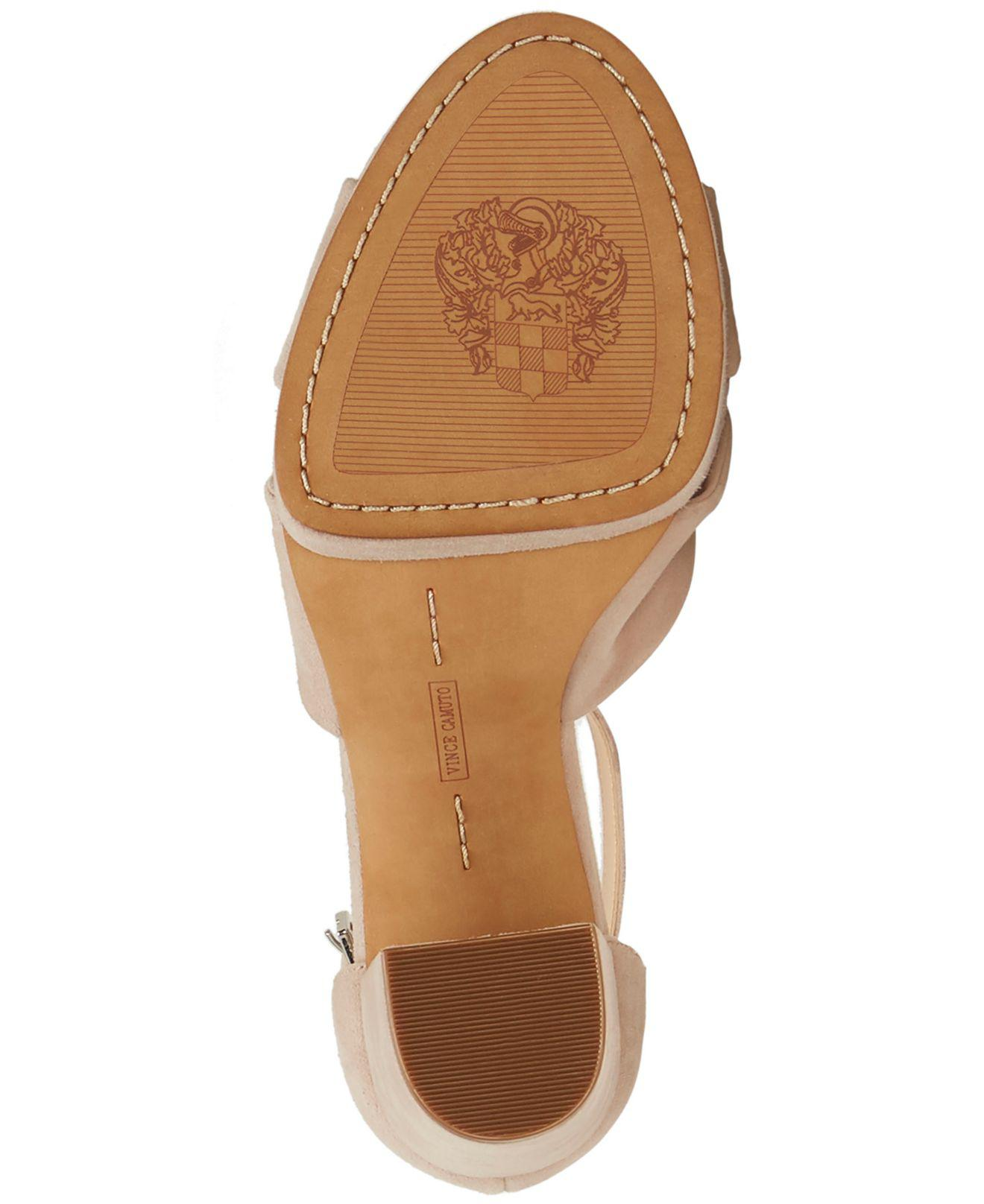 05b6bc8029a8 Lyst - Vince Camuto Corlesta Knotted Platform Dress Sandals