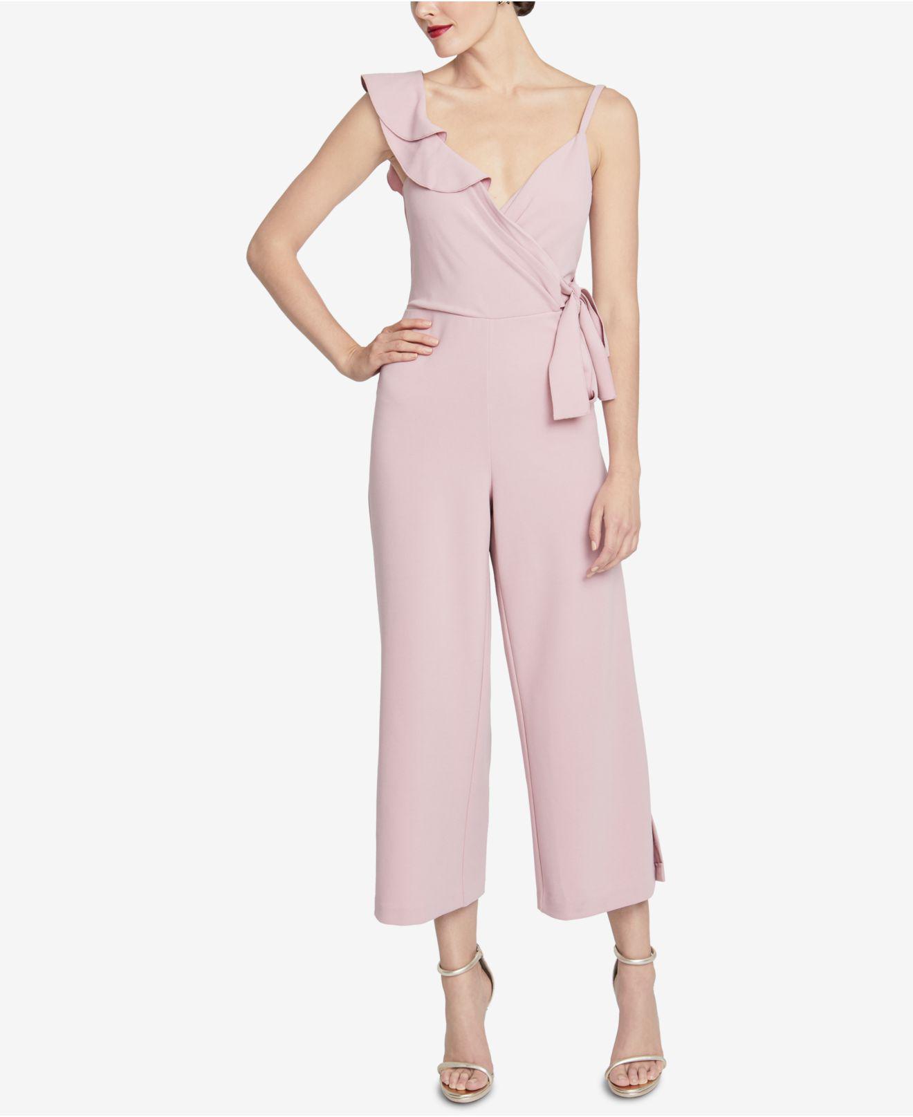 e395f95939ca Lyst - RACHEL Rachel Roy Ruffled Surplice Jumpsuit in Pink