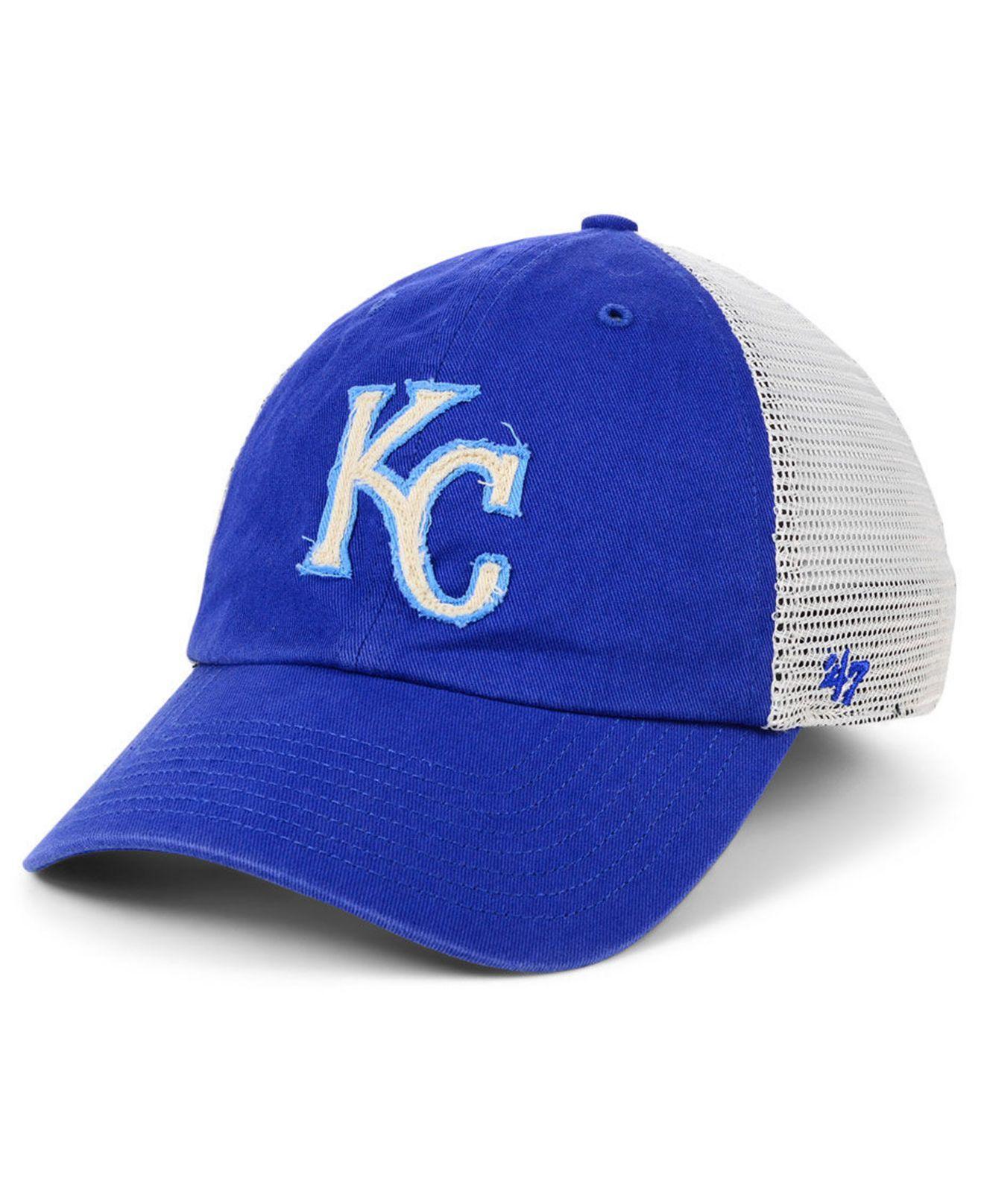 quality design dac19 2e980 47 Brand. Men s Blue Kansas City Royals Stamper Mesh Closer Cap