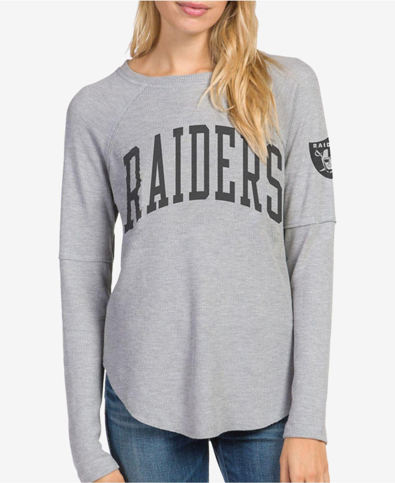 Lyst - Junk Food Oakland Raiders Thermal Long Sleeve T-shirt in Gray 69cf2a2e7