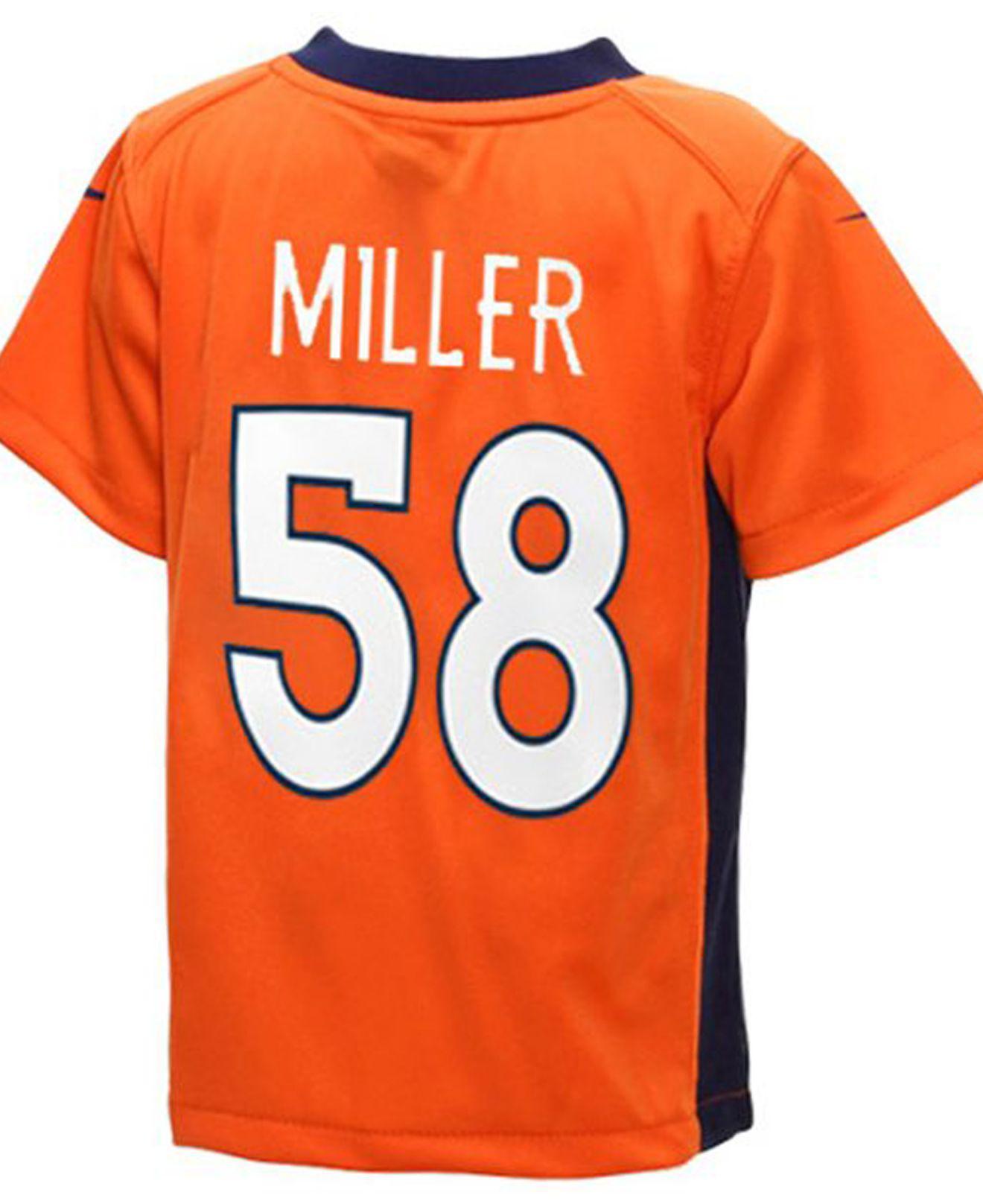 0d9cd2dfd Lyst - Nike Toddlers  Von Miller Denver Broncos Jersey in Orange for Men