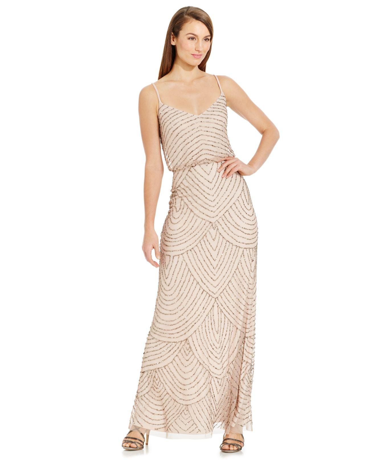 Amazing Adrianna Papell Beaded Gown Petite Photos - Best Evening ...