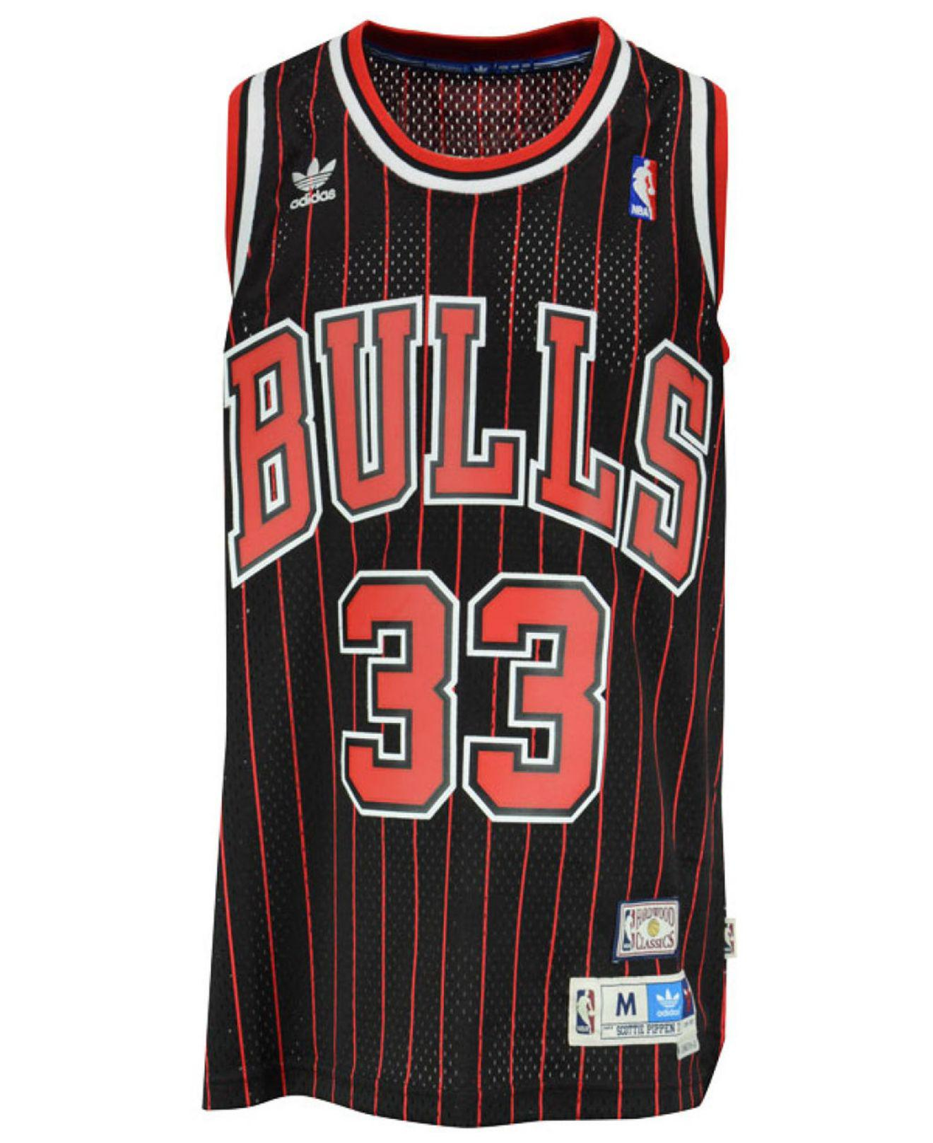 fa6b96bc6 adidas Men s Scottie Pippen Chicago Bulls Swingman Jersey in Red for Men -  Save 27% - Lyst